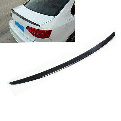 1Rear Trunk Lip Spoiler Wing Painted Black Trim For VW Jetta MK6 12-17 Sedan New ()
