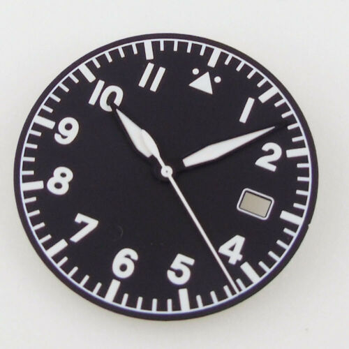 33.6mm Watch parts Dial+hands green Luminous fit for NH35A Automatic Movement