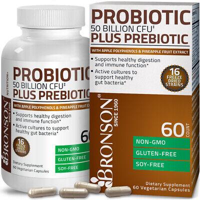 Probiotic 50 Billion CFU Plus Prebiotic Digestive Immune, 60