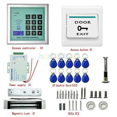 400 LBs Kit Electric Door Lock Magnetic Access Control Card Password System