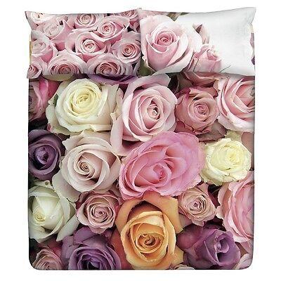 Set Copripiumino Lenzuola Matrimoniale Planet Fiori Rose Garden Floreale Gabel ()