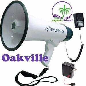 PYLE Megaphone With Recording Function Detachable Microphone and Rechargeable batteries
