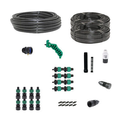 Drip Tape Irrigation Kit for Row Crops & Gardens Deluxe Size