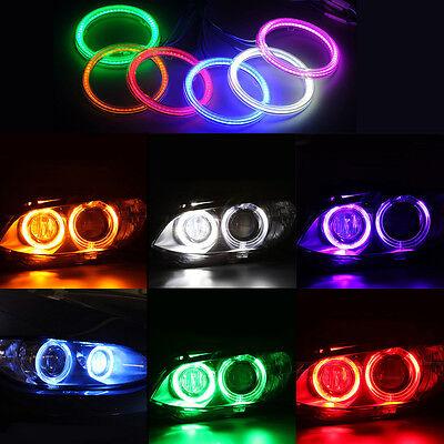 Colorful Angel Eyes Cob Halo Ring Light Car Headlight Smd