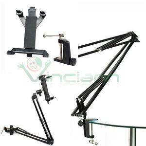 Supporto metallo telescopico stand braccio letto smartphone tablet scrivania crt ebay - Supporto per ipad da letto ...
