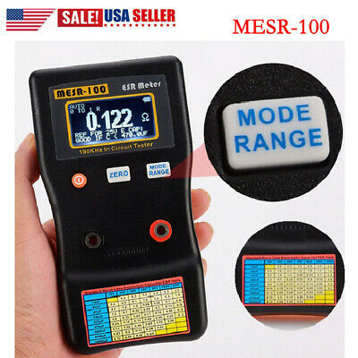 Mesr-100 V2 Esr Capacitor Tester Meter 0.001 To 100r Auto Ranging In Circuit Us