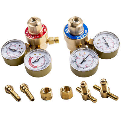 Regulators Set Oxygen And Acetylene Solid Brass Fit Victor Gas Torch Cutting