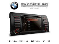 "BMW E53 X5 7"" Full HD 1080p Double Din GPS Stereo DVD Player USB SD Aux Car Headunit"