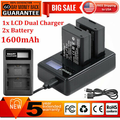 2x LP-E10 Battery + Dual Charger for Canon Rebel T3 T5 T6 EOS 1100D Kiss X50 X70