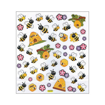 Bee Craft - Scrapbooking Crafts Stickers Bumble Bees Hives Flowers Repeats Bee Honey