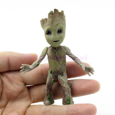 Cute 3 5  Guardians Of The Galaxy Vol 2 Baby Standing Groot Figure Toy Xmas Gift