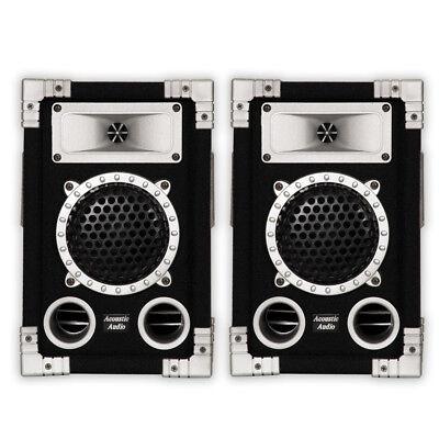 Acoustic Audio GX350 PA Karaoke DJ Speakers 2 Way Pair Stere
