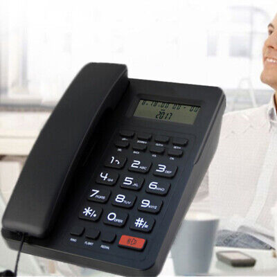 Corded Landline Phone With Large LCD Display Caller ID For Home Office Desk