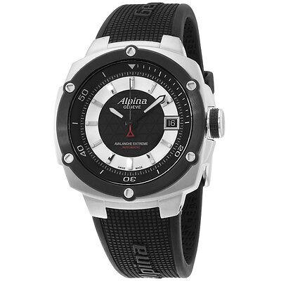Alpina Avalanche Extreme Black Dial Silicone Strap Men's Watch AL525LBS3AE6
