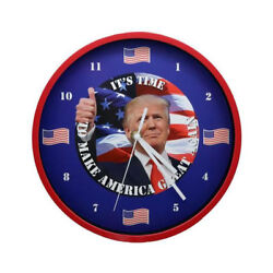 President Trump Talking Clock Battery Operated Red Color Frame