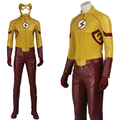 The Flash Season 3 Wally West Kid Flash Cosplay Costume Adult Halloween Costume](Kid Flash Halloween Costume)