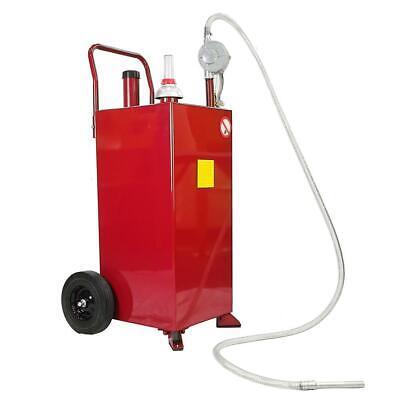 30 Gallon Portable Fuel Transfer Gas Can Caddy Storage Gasoline Tank Red