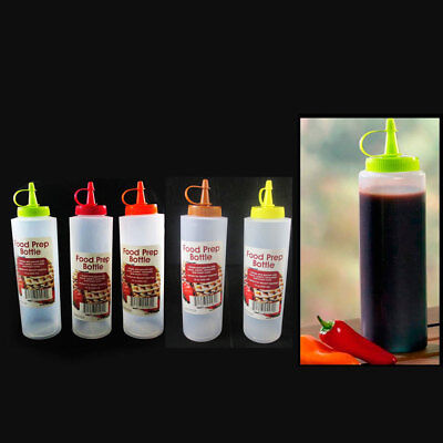 2 Pc Clear Plastic Bottle Squeeze Condiment Ketchup Mustard Oil Mayo Sauce 12oz](Plastic Squeeze Bottles)