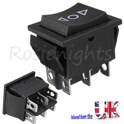 12V 6-Pin DPDT Aerial Elec Window Momentary Rocker Switch Sunroofs AC 250V/16A