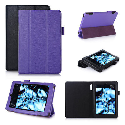 Genuine Leather Smart Case Cover for Amazon Kindle Fire HD 6