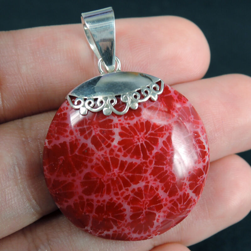 Artificially coloured Red Coral
