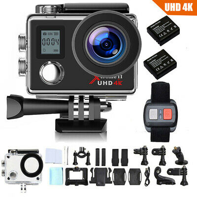 Campark Action Camera 4K WiFi Ultra HD Sports Cam Waterproof 170° Remote Control, used for sale  Shipping to Nigeria