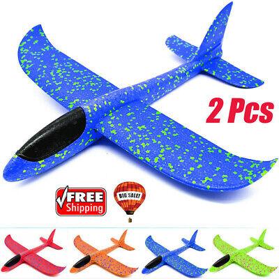 35/48cm EPP Foam Hand Throw Airplane Launch Glider Plane Kid Outdoor Toy Gift aa