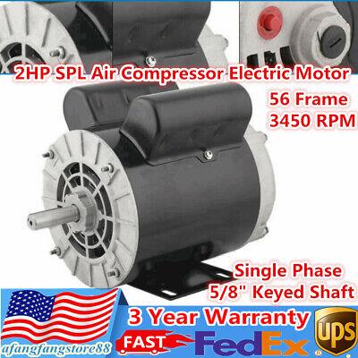2 Hp Spl Air Compressor Electric Motor 56 Frame 3450 Rpm Single Phase 60 Hz 58