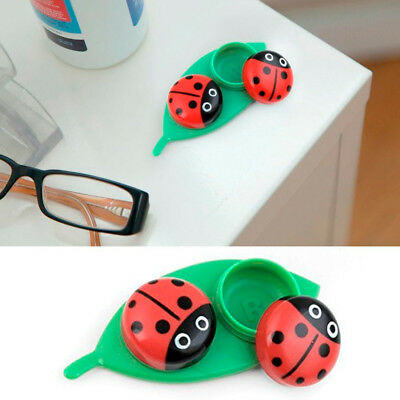 Kikkerland Contact Lens Case Ladybug Travel Kit Pocket Size Gift Set Idea Fun