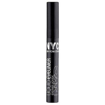 New York Color Liquid Eyeliner, Pearlized Black [888] 0.17 oz