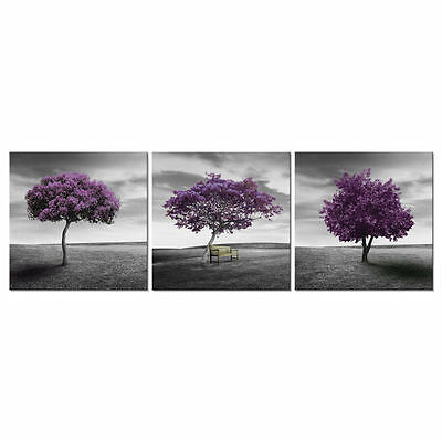 Canvas Wall Art Print Abstract Poster Photo Home Decor Landscape Purple Trees