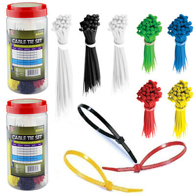 100x Nylon Self-Locking Label Zip Tie Network Cable Marker Cord Wire Strap GS