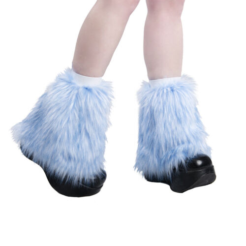 PAWSTAR Ankle Furry Leg Warmers - Fluffies Pastel Blue baby Boot Cover [BFF]2592