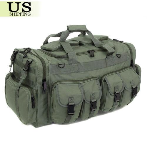"30"" Large Men Duffle Bag Military Molle Tactical Cargo Gear Shoulder Bag Luggage"
