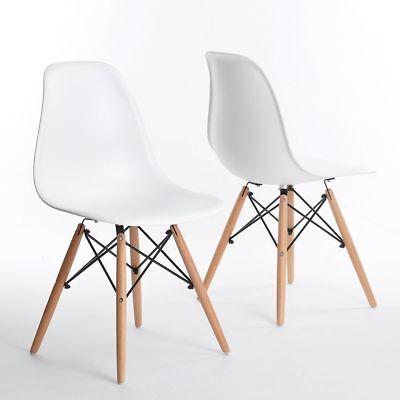 Pack de 4 sillas con patas de madera Sillas de comedor nórdicas...