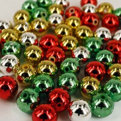 50 x CCB Plastic Green Leaves Christmas Beads 1mm Hole 20 x 13 mm PB22