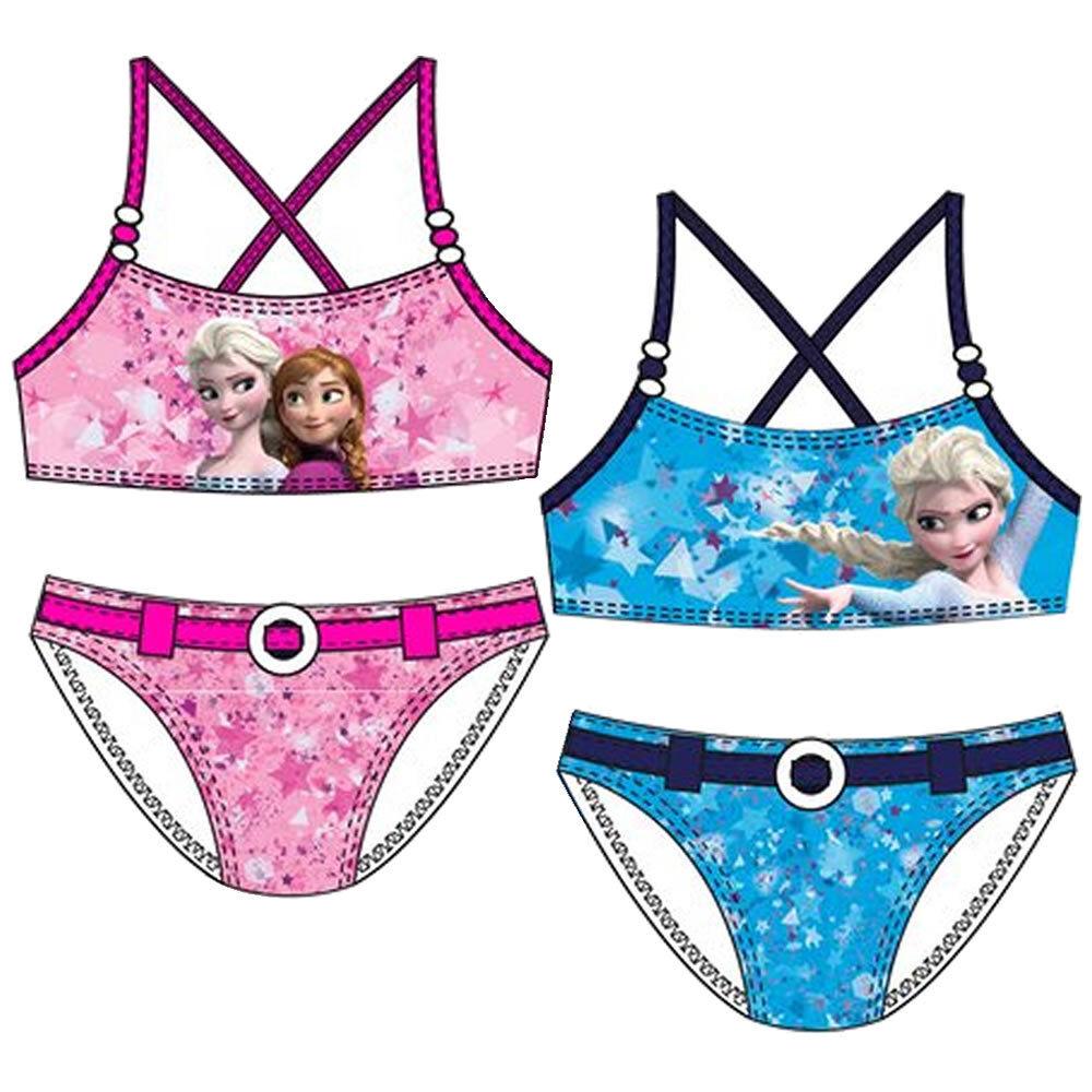 Frozen Bikini Badeanzug Elsa Anna Kinder Mädchen Disney 104 110 116 128 NEU