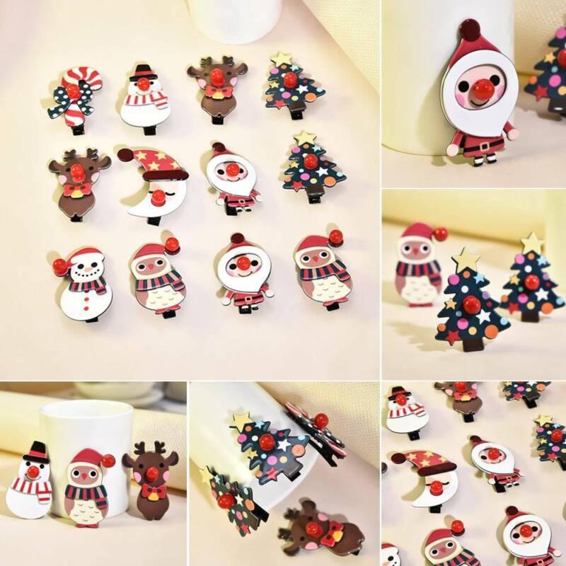 1X Merry Christmas Girl Hair Clips Hairpins Hair Accessories