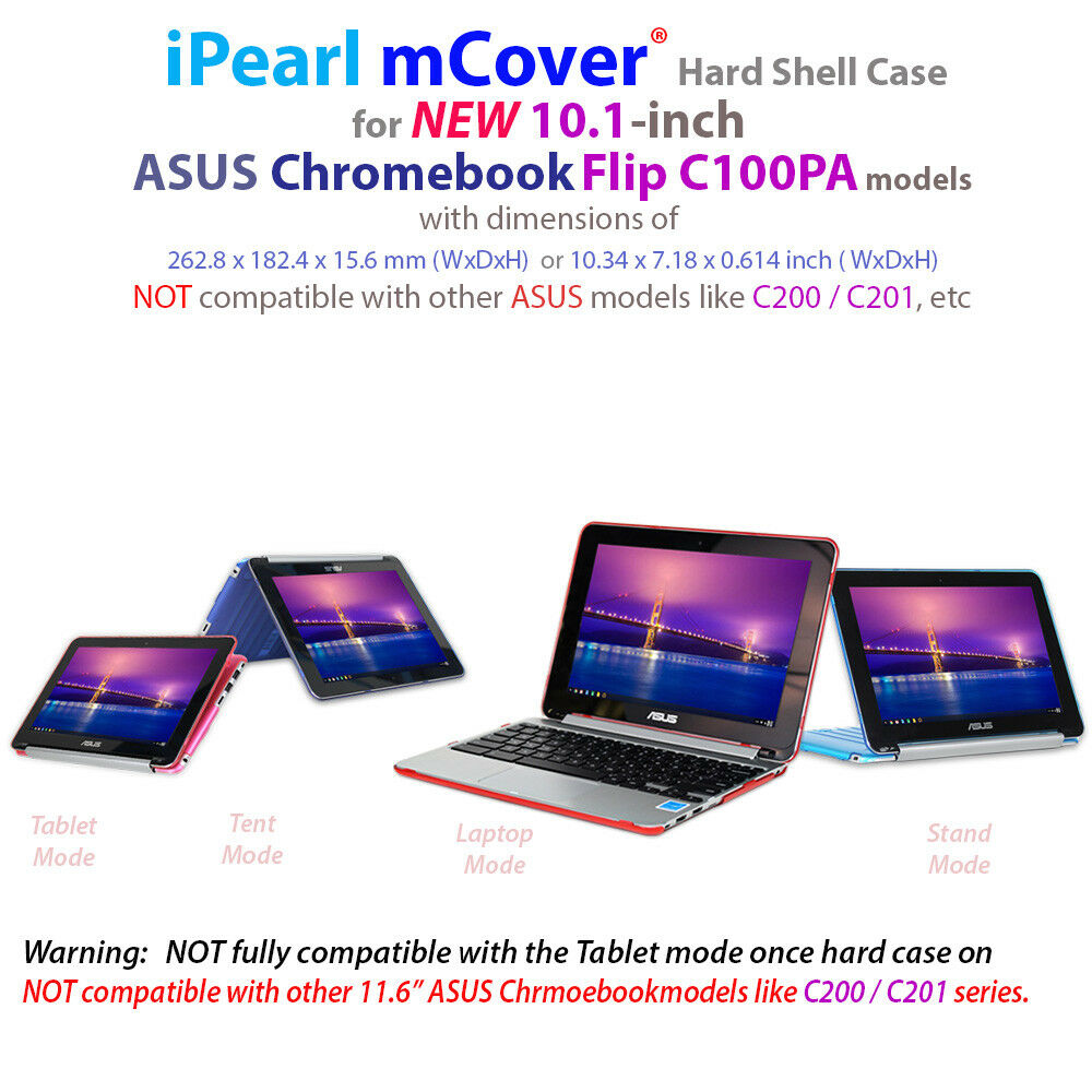"NEW mCover Hard Shell Case for 10.1"" ASUS Chromebook Flip"