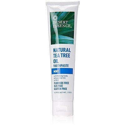 Desert Essence Natural Tea Tree Oil Toothpaste, Mint 6.25 oz