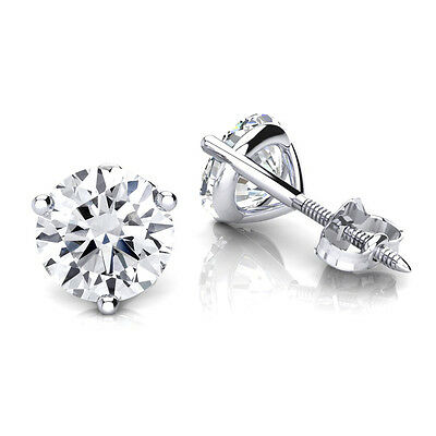 0.50TCW Real Round Cut Solitaire Diamond Certified Stud Earring At Best