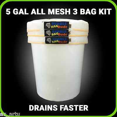 All Mesh Ice Extraction Bubble Ice Bags Extractor 5 Gallon 3 Bag