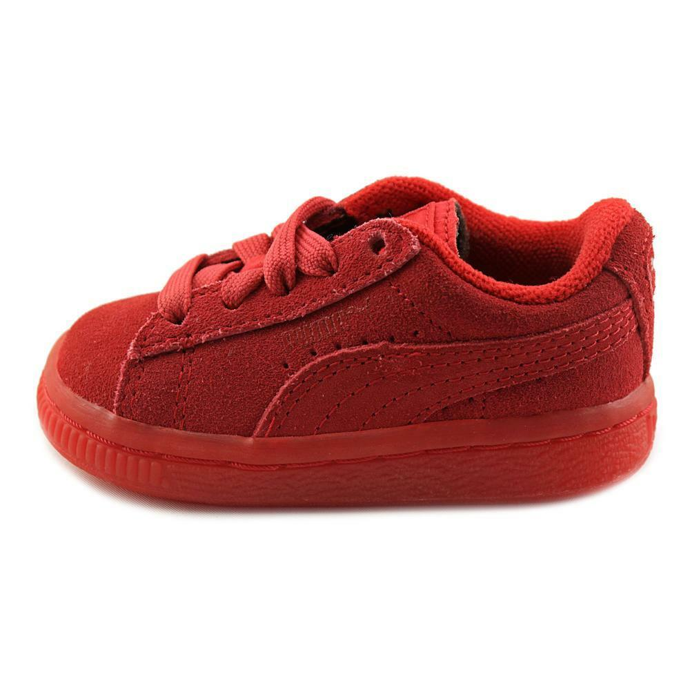 Puma Kids' Infant/Toddlers SUEDE ICED INFANT Shoes High Risk Red 361939-01 a 1