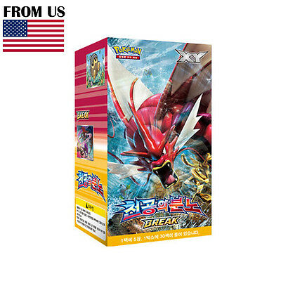 Pokemon Cards Game XY9 Rage of the Broken Sky Box 30 Booster Packs Korean Ver