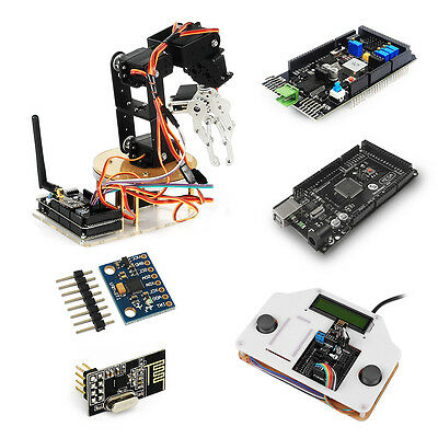 Sainsmart 6dof Robotic Arm Diy Kit With Remote Control For Arduino Mega2560