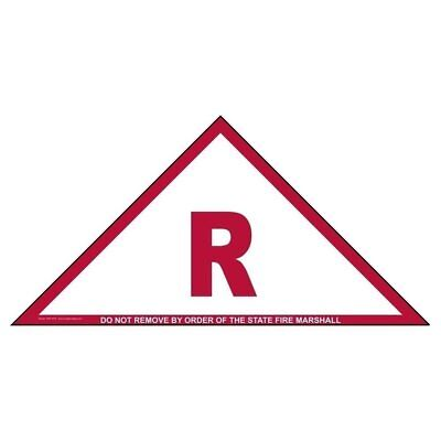 Roof Truss R Do Not Remove By Order Of The State Fire Marshall Sign 12x6 Inch