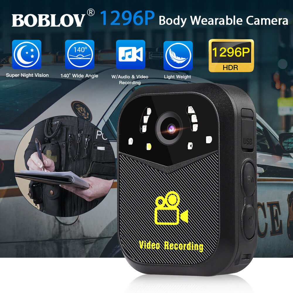 Boblov 1296P Body Worn Camera Auto Infrared Night Vision Wit