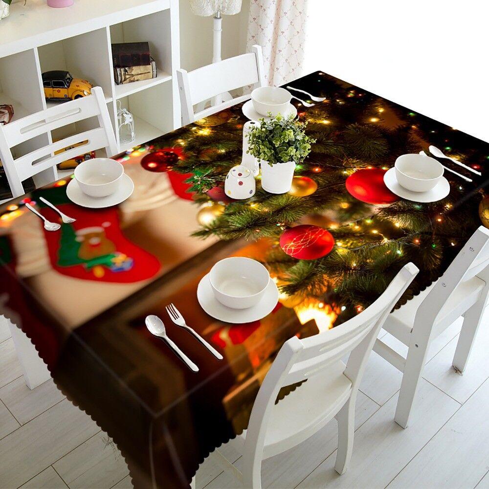3D Christmas Tablecloth Starfish Shell Rectangular Wedding T