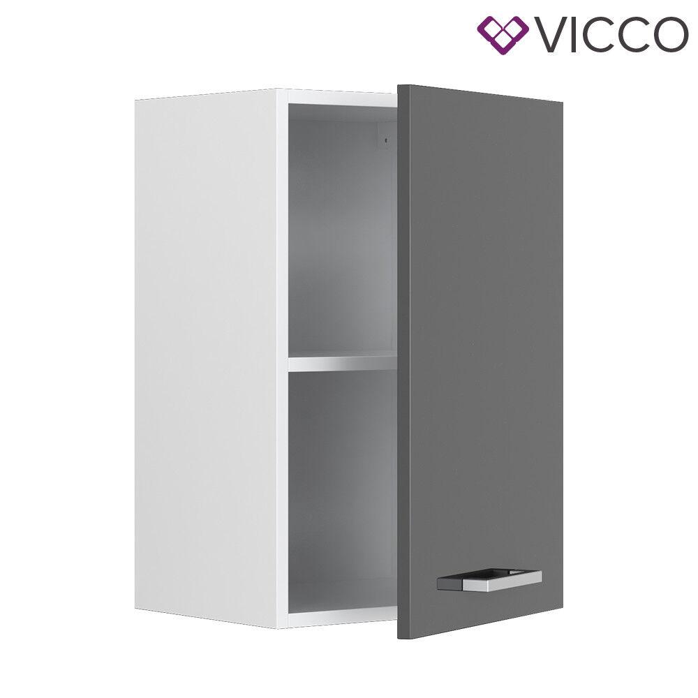VICCO Küchenschrank Hängeschrank Unterschrank Küchenzeile R-Line Hängeschrank 40 cm anthrazit