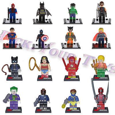 HOT 16 PCS Avengers Deadpool DC COMICS Marvel Minifigures Building Blocks Toys